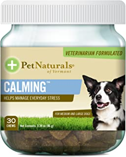 Pet Naturals of Vermont - Calming, Behavior Support for Medium & Large Dogs-30 Soft Chews