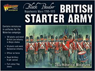 Black Powder Warlord Games, Napoleonic British Starter Army (Waterloo Campaign), Wargaming Miniatures