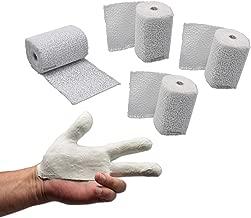 4 vendas de yeso de 8 cm x 300 cm (12 metros / 0,96 m2), venda de yeso para abdomen de bebé/modelado/impresión de cara/máscaras de yeso/fines médicos y mucho más. En el paquete de ConsuMed