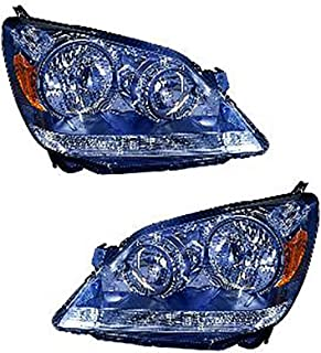 For Honda Odyssey Headlight 2005 2006 2007 Driver and Passenger Side Headlamp Replacement