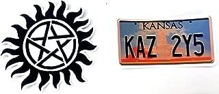 Supernatural - Logo and KAZ License Plate - 2 Vinyl Sticker Set