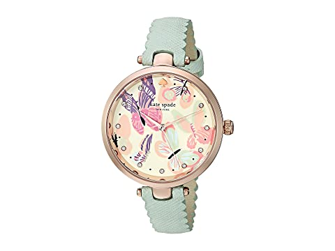 Holland Butterfly Leather Strap Watch, 34Mm in Mint