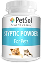 PetSol Styptic Powder For Dogs, Cats, Birds, Rabbits & Pets Rapidly Stop Bleeding Fast Caused By Nails, Cuts, Grooming - Nail Care, First Aid & Skin Protector (50g)