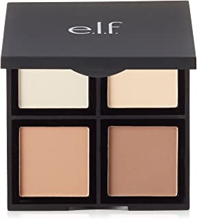 e.l.f. Cosmetics Contour Palette, Four Powder Shades Perfectly Contour and Highlight Your Features, Light/Medium