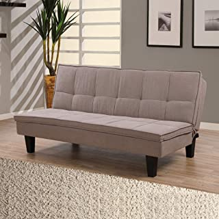 سرير أريكة شيري مزخرف للتأطير بـ3 مقاعد من هومب وكس، بني - ارتفاع 89 سم × عرض 89.5 سم × طول 132 سم