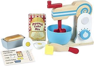 Melissa & Doug Wooden Make-a-Cake Mixer Set, Multicolor (19840)