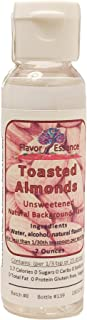 TOASTED ALMONDS by Flavor Essence (Unsweetened, Natural Background Flavoring) 2 Oz.| In Beverages: coffee/tea, shakes/smoothies, bar drinks. In Foods: baking, doughs/batters, frostings, yogurt