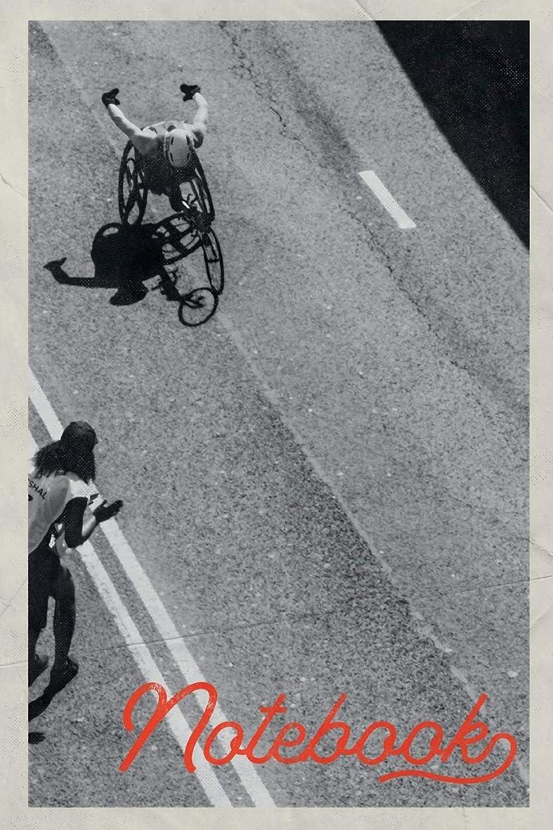 チャート拷問多用途Notebook: Life After Leg Amputation Beautiful Composition Book Journal Diary for Men, Women, Teen & Kids Vintage Retro Design racing wheelchair gloves