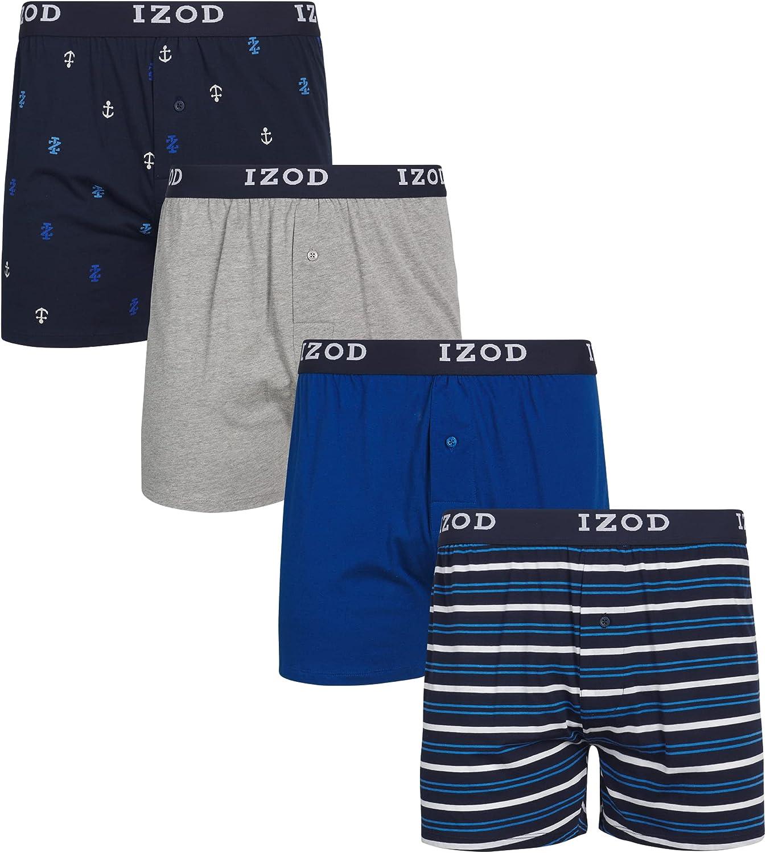 IZOD Men's 4pk Knit Boxer