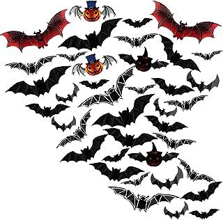 Halloween-decor, Halloween-decoratie, Halloween-decoratie kinderfeestje, 3D-vleermuizen muurstickers Geschikt voor raam Ki...