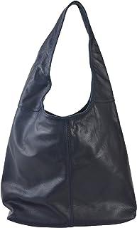 Chicca Tutto Moda CTM Borsa a Spalla da Donna in Vera Pelle Made in Italy D6170-41x55x12 Cm