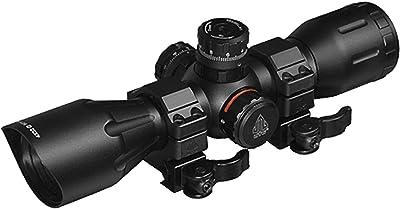 "UTG 4X32 1"" Crossbow Scope, Pro 5-Step RGB Reticle, QD Rings"