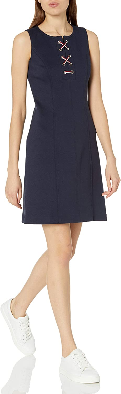 Miami Mall Tommy Hilfiger Women's Shipping included Pique A-line Knit Colorblock