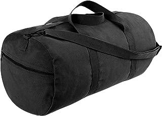 Canvas Shoulder Duffle Bag - 24 Inch, Black