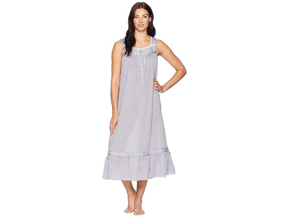 Eileen West Petite Chambray Ballet Nightgown (Charcoal) Women