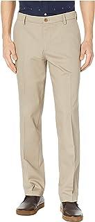 Men's Straight Fit Signature Lux Cotton Stretch Khaki Pant-Creased