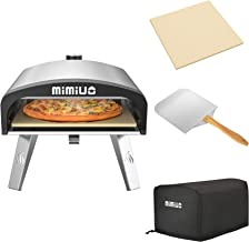 """Mimiuo Portable Gas Pizza Oven with 13"""" Round Pizza Stone & 12x 14 inch Foldable Pizza Peel - Universal Stainless Steel Ga..."""