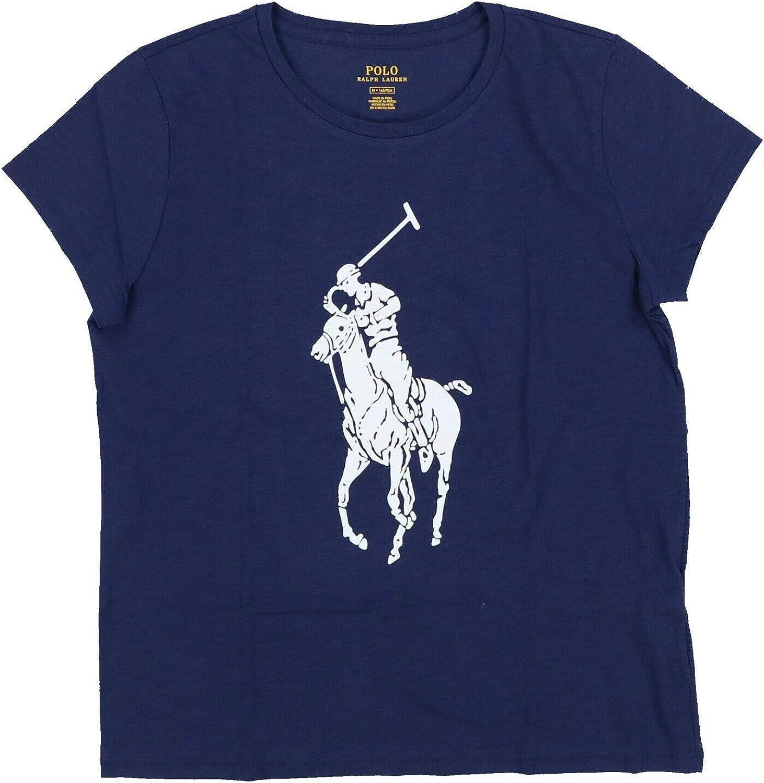 Polo Ralph Lauren Womens Big Graphic Pony T-Shirt (Small, Navy)