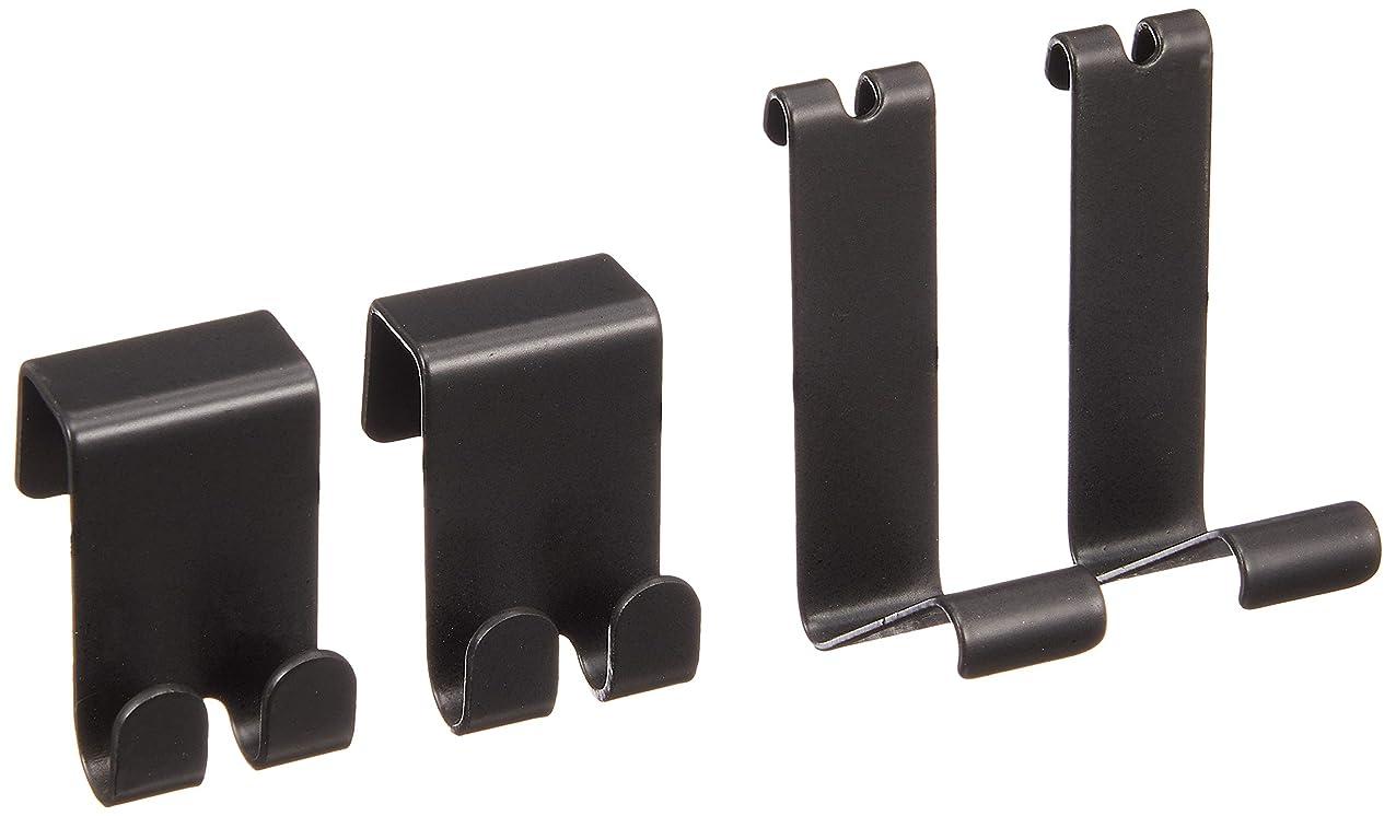 ウェーハ強大なロック解除アイリスオーヤマ メッシュパネル長押用金具 (ブラック) MPA-KN (BL)