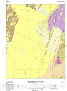 Historic Pictoric Map : Interim geologic map of The Enoch Quadrangle, Iron County, Utah, 2014 Cartography Wall Art : 16in x 24in