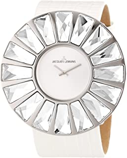 Jacques Lemans Women's 1-1638B Flora Analog with Swarovski Elements Watch