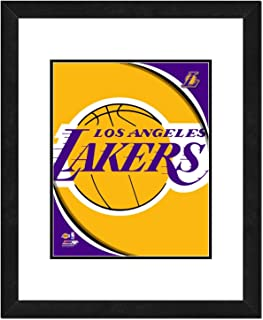 NBA Team Logo Double Matted & Framed Photo