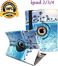 Newraturner iPad 2/3/4 Case - 360 Degree Rotating Stand Smart Case Protective Cover with Auto Wake Up/Sleep Feature for Apple iPad 4, iPad 3 & iPad 2 (Blue sea)