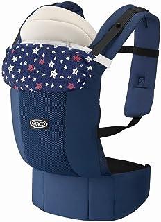 Graco(グレコ) 新生児から使える抱っこ紐 ルーポップゼロ Roopop ZERO (おくるみインサート付き、やわらかメッシュ、疲れにくい腰ベルト) キュートスターNV 67551