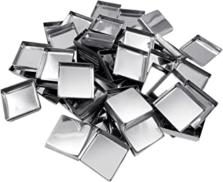 Allwon 56 Pack Empty Square Metal Pans for Eyeshadow Palette Magnetic Makeup Palette (26mm)