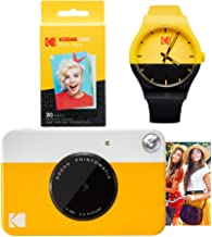 KODAK PRINTOMATIC Instant Print Camera (Yellow) Watch Bundle