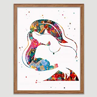 Breastfeeding Mother Watercolor Poster Mom Newborn Doula Pregnancy Wall Art Mama's Milk Decor Motherhood Wall Decor Breastfeeding Art Home Decor Lactation Room Art Baby Shower Gift