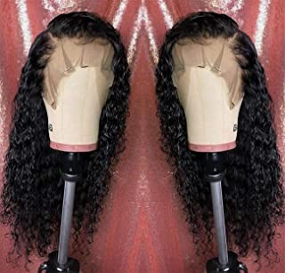 Long Deep Curly Synthetic lace front wigs Glueless Fiber Hair Heat Resistant Looks Nutural Wavy With Baby Hair for Women 22 Inch