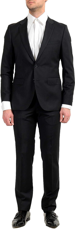Hugo Boss C-Jeffery/C-Simmons Men's 100% Wool Black Two Button Suit US 46L IT 56L