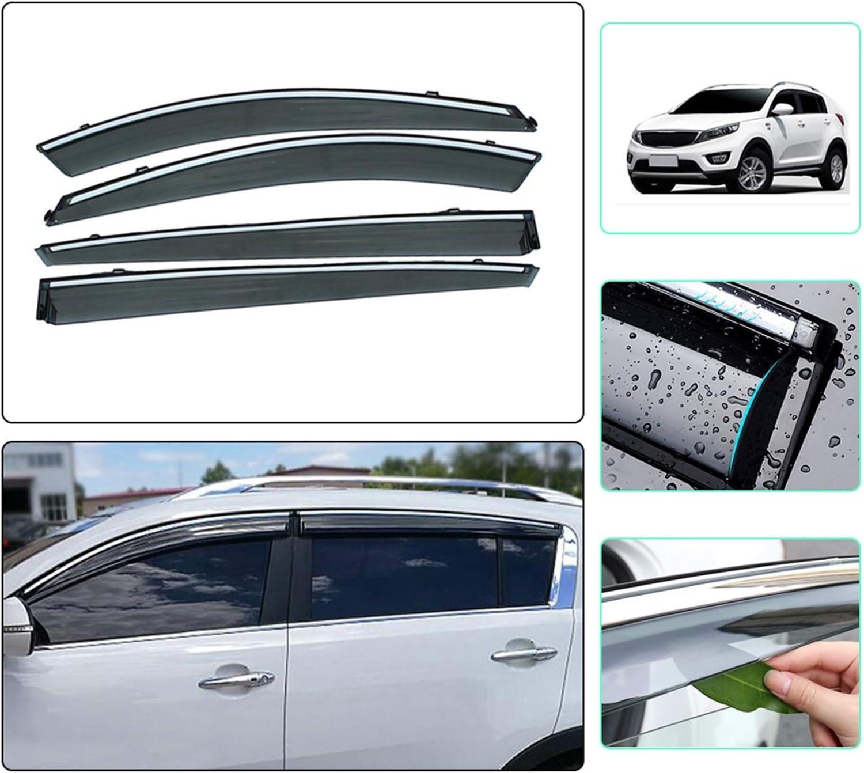 JIUTAI Window Wind Deflectors for SPORTAGE R KIA Smoke Soldering 2011-2019 Finally popular brand