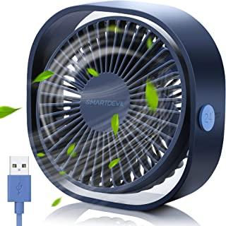 Sponsored Ad – SMARTDEVIL Portable Desk Fan, Small Personal USB Desk Fan, Desktop Table Cooling Fan Powered by USB Fan wit...