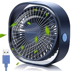 SmartDevil Small Personal USB Desk Fan,Powered by USB