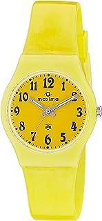 Maxima Analog Yellow Dial Women's Watch - 39434PPKW