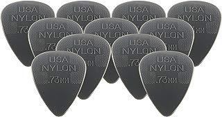 Dunlop 44P73 .73mm Nylon Standard Guitar Picks, 12-Pack