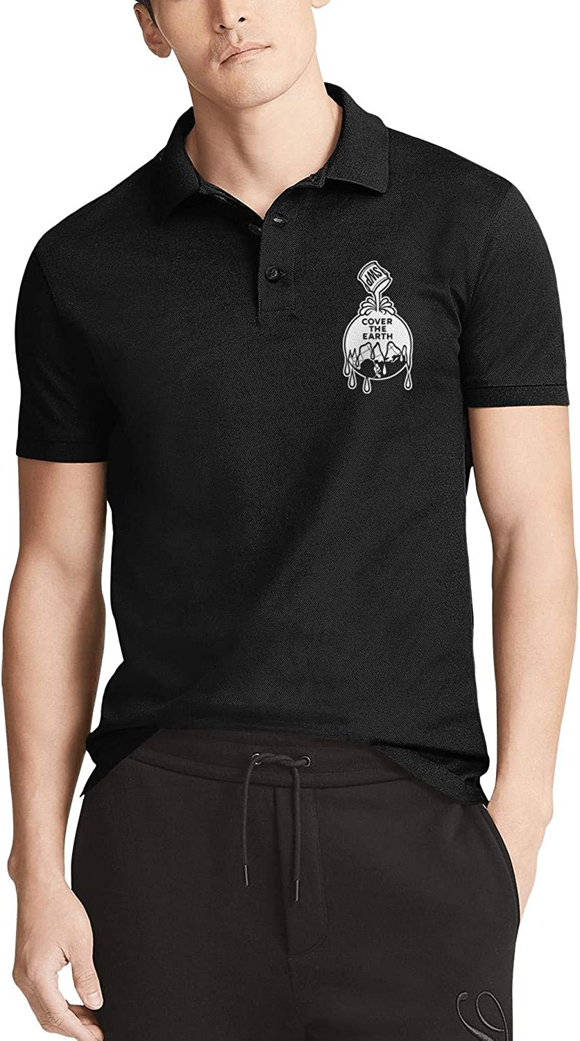 Mens Black Short Sleeve レビューを書けば送料当店負担 Polo 販売期間 限定のお得なタイムセール T-Shirts Collared Waffles-are-Just-