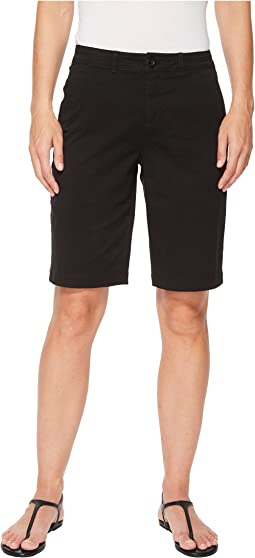 Bermuda Shorts Button Waist in Black