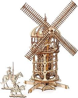UGEARS Tower Windmill 3D Wooden Model DIY Self-Assembling Brainteaser Adult and Teens Craft Kit Gift