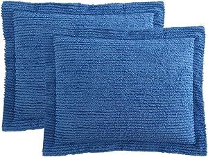 Ellison Richland Chenille Solid Single Standard, Blue Sham, 20 x 26 inches