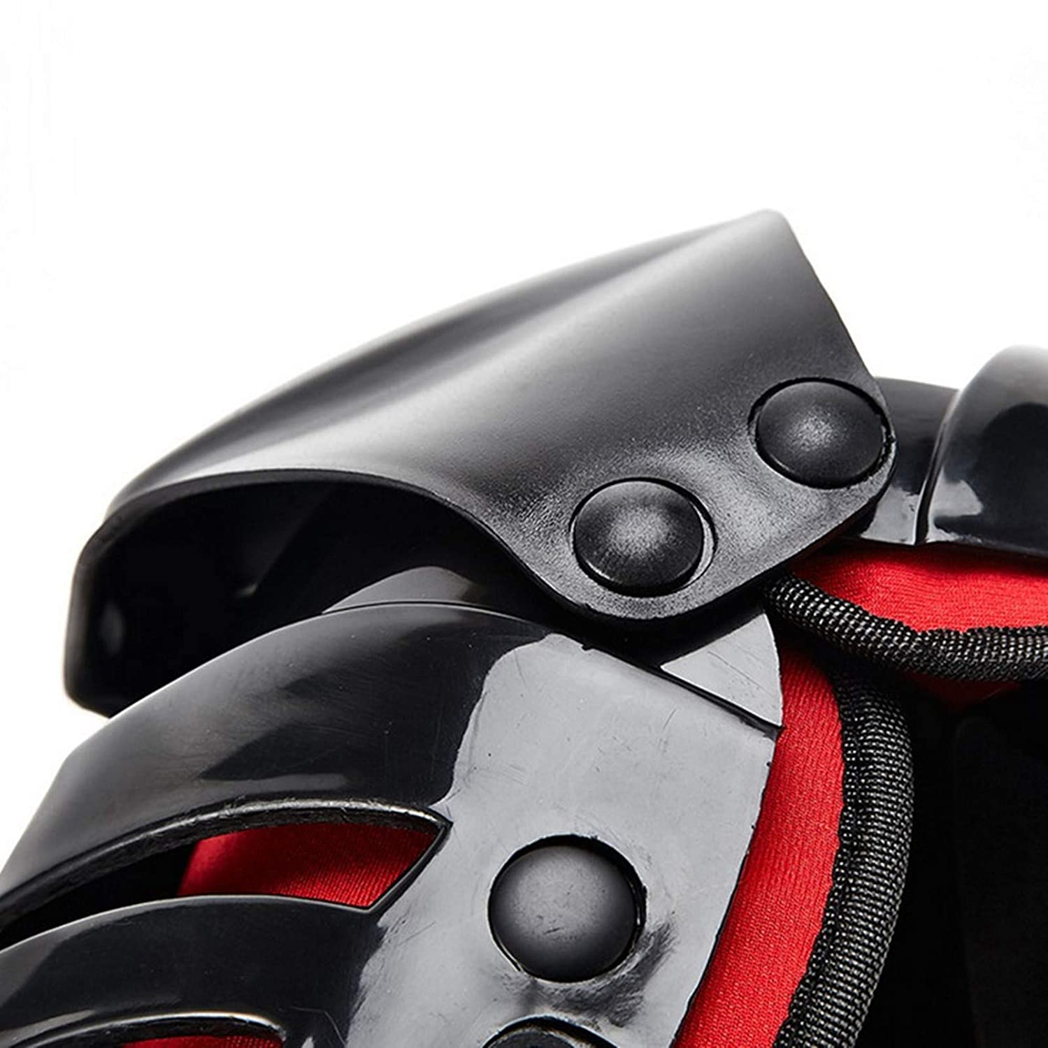 Mczone 1 Pair of Adults Fashion Knee Shin Armor Protect Guard Pads Accessories with Plastic Cement Hook for Motorcycle Black