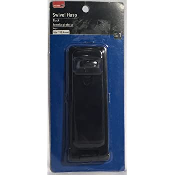 Bulldog Hardware 6 inch 6in Black Swivel Hasp