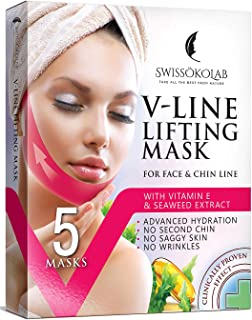 Double Chin Reducer V Line Lifting Mask Face Slimming Strap Chin Neck V Shaped Lift Tape..