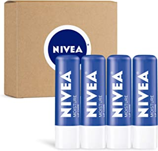 Nivea Moisture Lip Care - مومیایی مرطوب کننده شدید یونیسکس - .17 Oz (بسته 4)