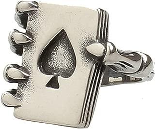 Epinki Men Ring, Stainless Steel Magic Poker Monster Claws Pattern Punk Band Gothic Rock