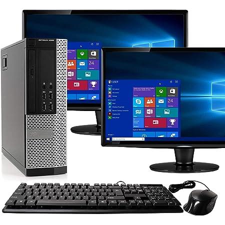 Dell Optiplex 9020 SFF Computer Desktop PC, Intel Core i5 Processor, 16 GB Ram, 2 TB Hard Drive, WiFi, Bluetooth 4.0, DVD-RW, Dual 19 inch LCD Monitors Windows 10 Pro (Renewed)
