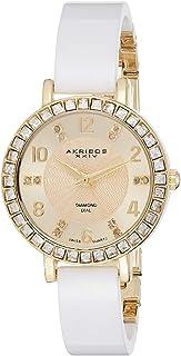 Akribos XXIV Women's Ceramic Analogue Display Quartz Watch with Ceramic Strap