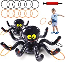 Max Fun Halloween Inflatable Spiders Ring Toss Game Set Pack of 2 for Kids Carnival School Party Favor Supplies Holiday De...